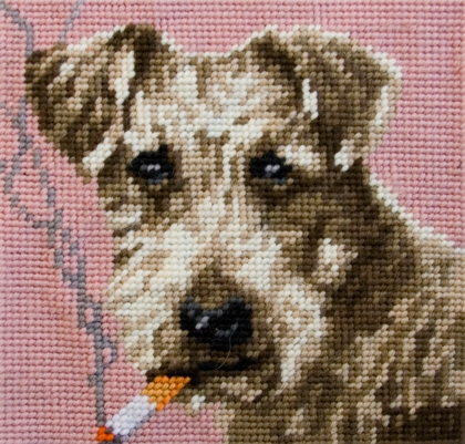 'Fox Terrier' from the series 'Smoking Dogs'