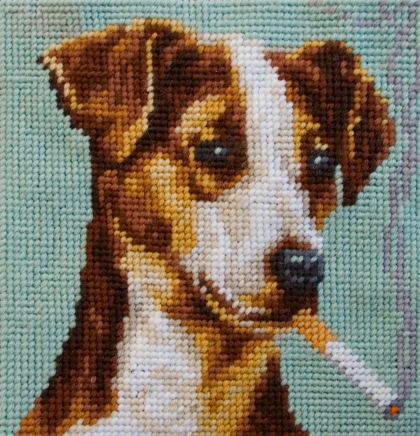 'Jack Russel' from the series 'Smoking Dogs'