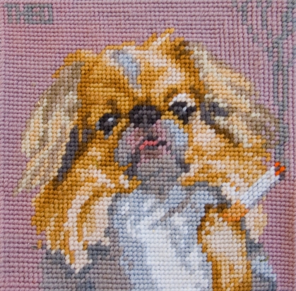 'Japanese Spaniel' from the series 'Smoking Dogs'