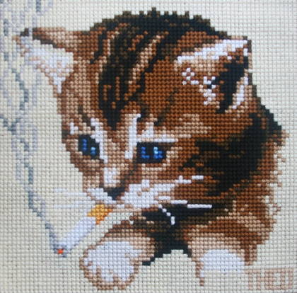 'Kitten' from the 'Smoking Animals' collection