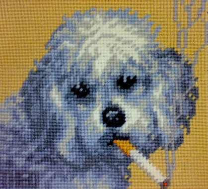 'Poodle' from the series 'Smoking Dogs'